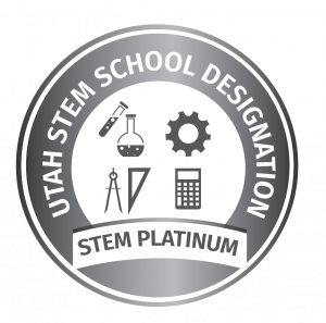 Platinum Utah STEM School Designation seal